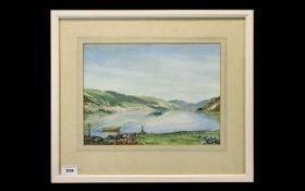 C.C.Smith British Artist - Titled ' Loch