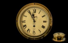 Sestrel Key-wind Ships Brass Clock with