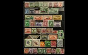 Stamp Interest - green two ring binder w