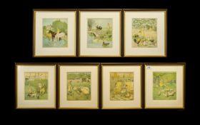 Set of Seven A. Randolph Caldecott Illus