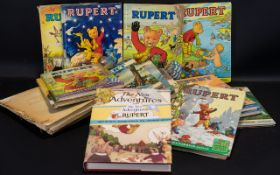 Collection of Rupert Bear Annuals - cond
