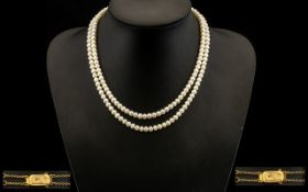 A Ladies Superb Double Strand Cultured P