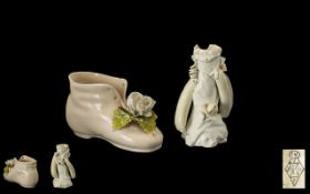 Moore Brothers Style Porcelain Items ( 2