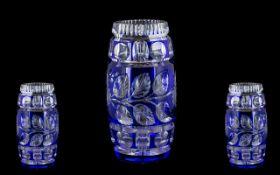 Cobalt Blue Bohemian Style Vase of flowe