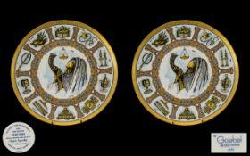 Goebel Traditions Decorative Plates, (2)