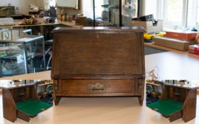 A Late 19th/Early 20th Century Oak Writi