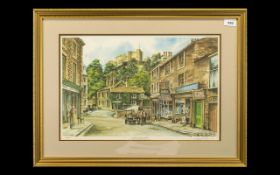 Large Print by David Diggins 'Castle Street, Clitheroe,