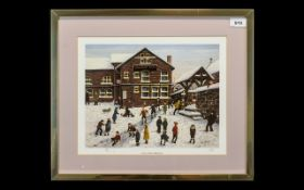 Tom Dodson 1910 - 1991 Ltd and Numbered Colour Print - Title ' A Day After Christmas ' At S. Mary'