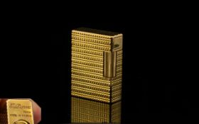 S. J. DuPont - Paris Excellent Quality Gold Plated Lighter, 20 Microns Gold Thickness. c.1960's.