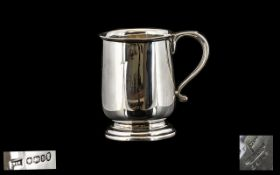 Walker & Hall 1930's Silver Cup with Scroll Handled Stepped Base. Hallmark Sheffield 1935, Maker M &