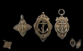 A Collection of Three Boys Brigade Silver Fobs / Medals All hallmarked. total weight approx. 20