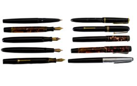 Collection Of Five Fountain Pens To Include Parker & Swan etc A/F