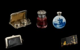 A Small Collection of Antique Period Items ( 4 ) Pieces In Total. Comprises 1/ Ladies