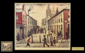 Laurence Stephen Lowry 1887-1976 Artist Signed Limited Edition Colour Lithograph Print - Titled