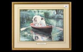 Sherree Valentine Daines Print 'The Boating Lake'.