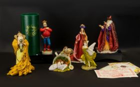 Collection of Enchanted Figures six figures in total including Quillion Autumn Witch and Summer