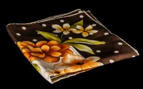 Aspinal of London Vintage Scarf by Vakko.