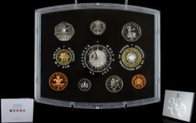 Royal MInt United Kingdom 2000 Proof Struck Coin Set - 10 Proof Struck Coins In Total. Includes a