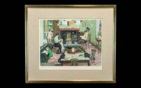 Tom Dodson 1910 - 1991 Artist Signed Ltd and Numbered Edition Colour Print - Title ' Evening at Home