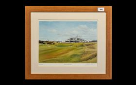 Golf Interest - Print of Royal Birkdale Golf Course by Graeme W Baxter. Signed print mounted