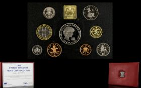 Royal Mint - Delux 1999 United Kingdom Proof Coin Collection. This Coin Collection Contains Proof