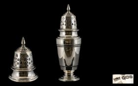 Art Deco Period Mappin and Webb Nice Quality - Silver Sugar Sifter of Pleasing Form. Hallmark