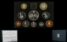 Royal Mint 1997 United Kingdom Proof Struck Coin Collection, This Set Contains 10 Proof Struck