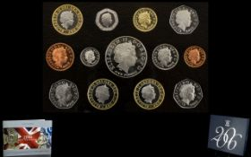 Royal Mint United Kingdom 2006 - Proof Coin Collection ( 13 ) Coins In Total. All Proof Struck