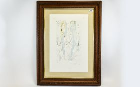 Salvador Dali (1904-1989) Return, O Shulamite Songs of Songs, Limited Edition Framed Lithograph,
