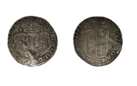 Phillip and Mary Silver Hammered Sixpence. Date 1554. Good Fine Condition. Please Confirm with