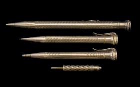 Eversharpe - Sterling Silver Cased Propelling Pencil. Hallmark Birmingham 1912. 5.5 Inches In