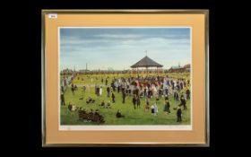 Tom Dodson 1910 - 1911 Artist Signed Ltd and Numbered Edition Coloured Print - Titled ; Band Stand '