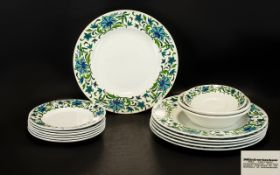 Midwinter Retro Part Dinner Set, Comprising 6 Dinner Plates - 10.5 Inches ( 26.