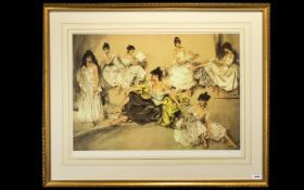 Sir Russell Flint Ltd and Numbered Edition Colour Lithograph Print of Large Proportions.