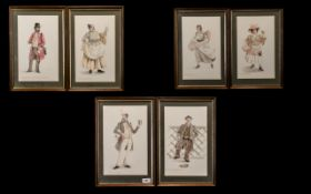 Collection of Watercolours by John Oliver 1828-1900 six in total, titled: Coffy Johnny, Jacky Broon,