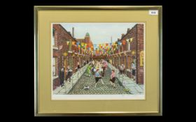 Tom Dodson 1910 - 1991 Artist Signed Ltd and Numbered Colour Print - Title ' Coronation Day ' This