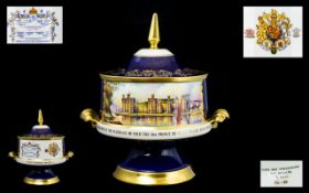 Aynsley - Magnificent and Impressive - Large Twin Handle Lidded Bowl of Ltd and Numbered Edition