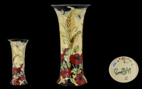 Moorcrofts Original 1980's Special Edition Large and Impressive Tubelined Vase ' In Flanders Field