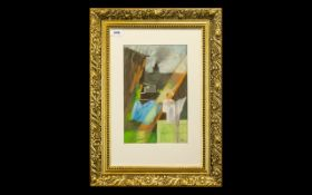 Katie Sowter Pastel Painting signed to bottom right. Artist Katie Sowter (British, 1944-2003).