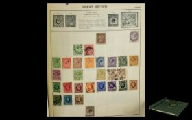 Triumph Spring Back Stamp Album with Stamps of Good Quality from Several Countries.