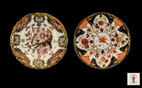 Two Various Royal Crown Derby Decorative Plates,