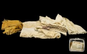 Collection of Edwardian Lace Items to include two infant's dresses and a vintage infant's