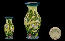Moorcroft Tubelined Contemporary Designed Vase.
