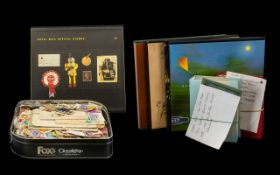 Stamp Interest - Collection of Royal Mail Special Stamp Albums, together with a tin of loose stamps,