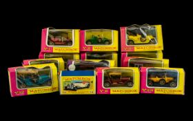 Lesney Matchbox 'Models of Yesteryear, a collection, all boxed, comprising Y1 to Y14 inclusive,