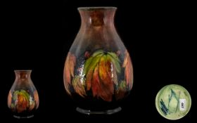 William Moorcroft Signed Large and Impressive Flambe Ovoid Shaped Vase ' Leaf's and Berries '