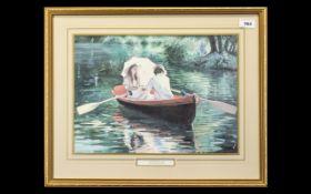 Sherree Valentine Daines Print 'The Boating Lake'.