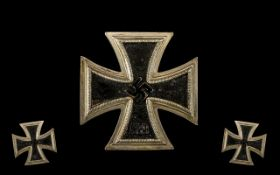 WWII Interest - Nazi German Iron Cross. First class with brooch fitting.