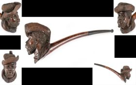 Late 19th Century Excellent Quality Carved Briar Pipe,