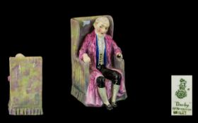 Royal Doulton Early Period Hand Painted Porcelain Figure 'Darby' Pink and blue HN 1427, Issued